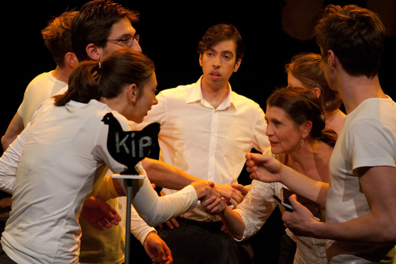 Wilde Spinazie speelt 'Uit Je Hok'. Foto: Geert Niermeijer